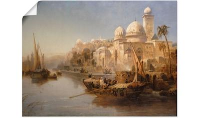 Artland Wandbild »Segelboote an einem maurischen Palast.« kaufen