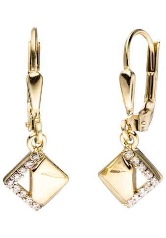 JOBO Paar Ohrhänger, verschlungen 333 Gold bicolor mit Zirkonia kaufen
