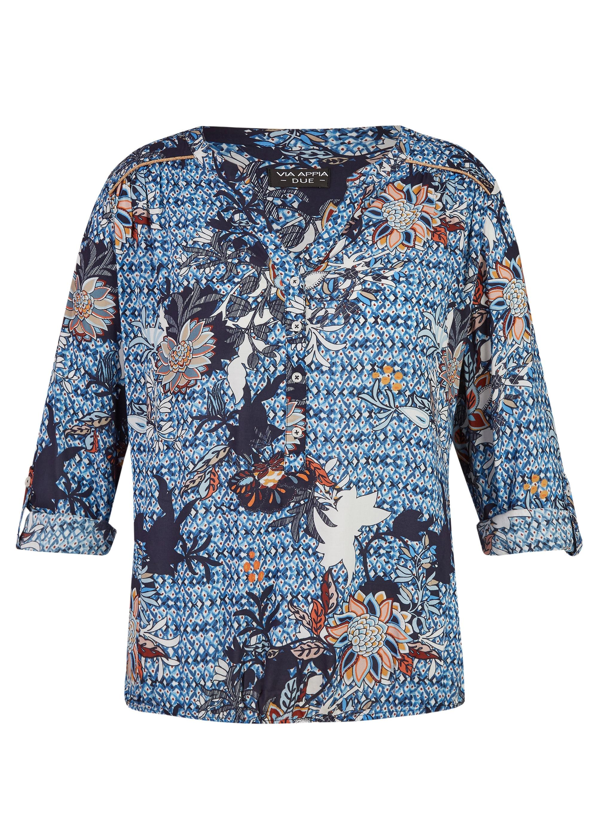 VIA APPIA DUE Leichte Bluse mit Allover-Print