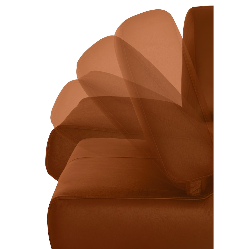 W.SCHILLIG 3-Sitzer »taboo«, mit Übertiefe, inklusive Armlehnenverstellung