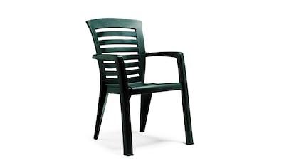BEST Gartenstuhl »Florida«, (2er Set), Kunststoff, stapelbar, grün kaufen