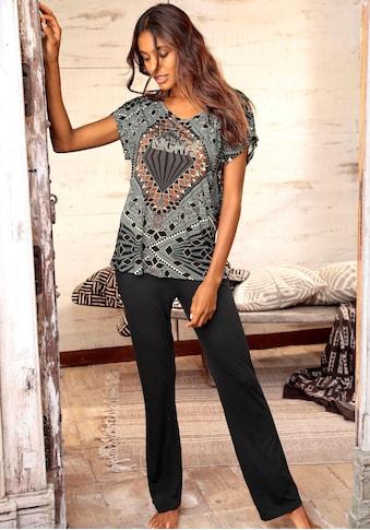 LASCANA Pyjama, mit Ethno-Muster kaufen