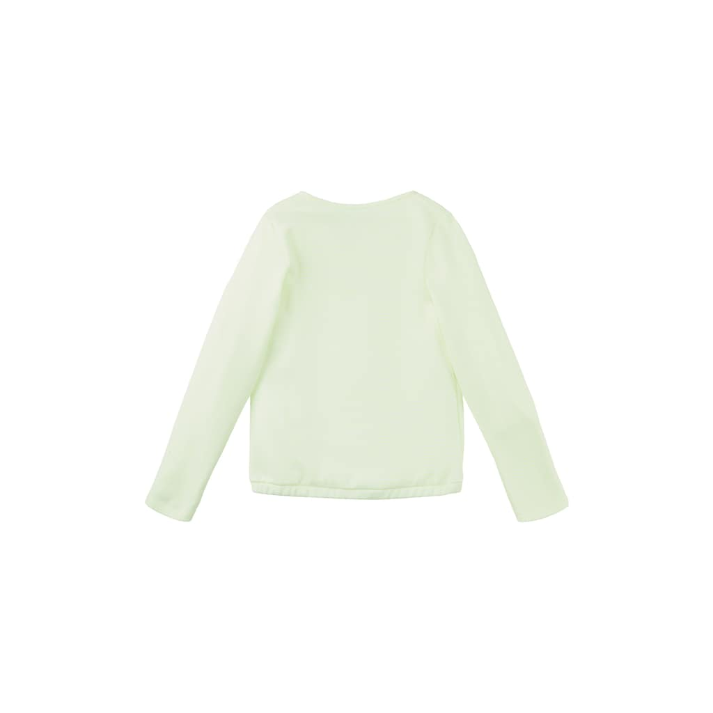 TOM TAILOR Sweatshirt »Gestreiftes Sweatshirt mit elastischem Bund«