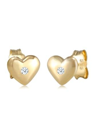 Elli Paar Ohrstecker »Kinder Herz Diamant (0.03 ct.) 585 Gelbgold« kaufen