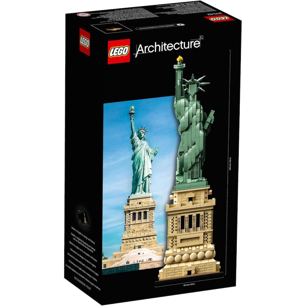 LEGO® Konstruktionsspielsteine »Freiheitsstatue (21042), LEGO® Architecture«, (1685 St.), Made in Europe