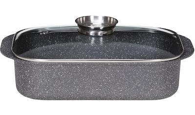 Krüger Bräter »Dallas«, Aluminiumguss, (1 tlg.), Granit-Optik, Induktion kaufen