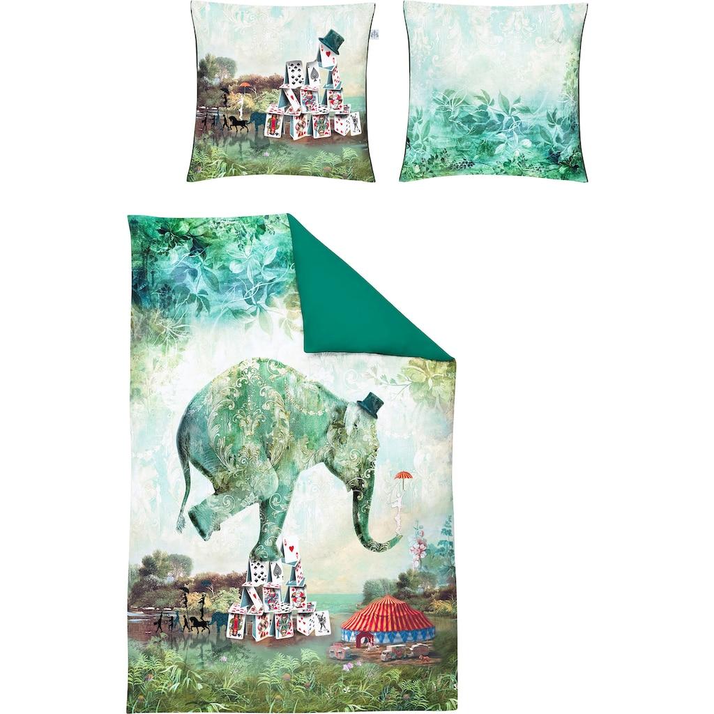 Irisette Wendebettwäsche »Juwel-K 8819«, edler Digitaldruck mit Elefant