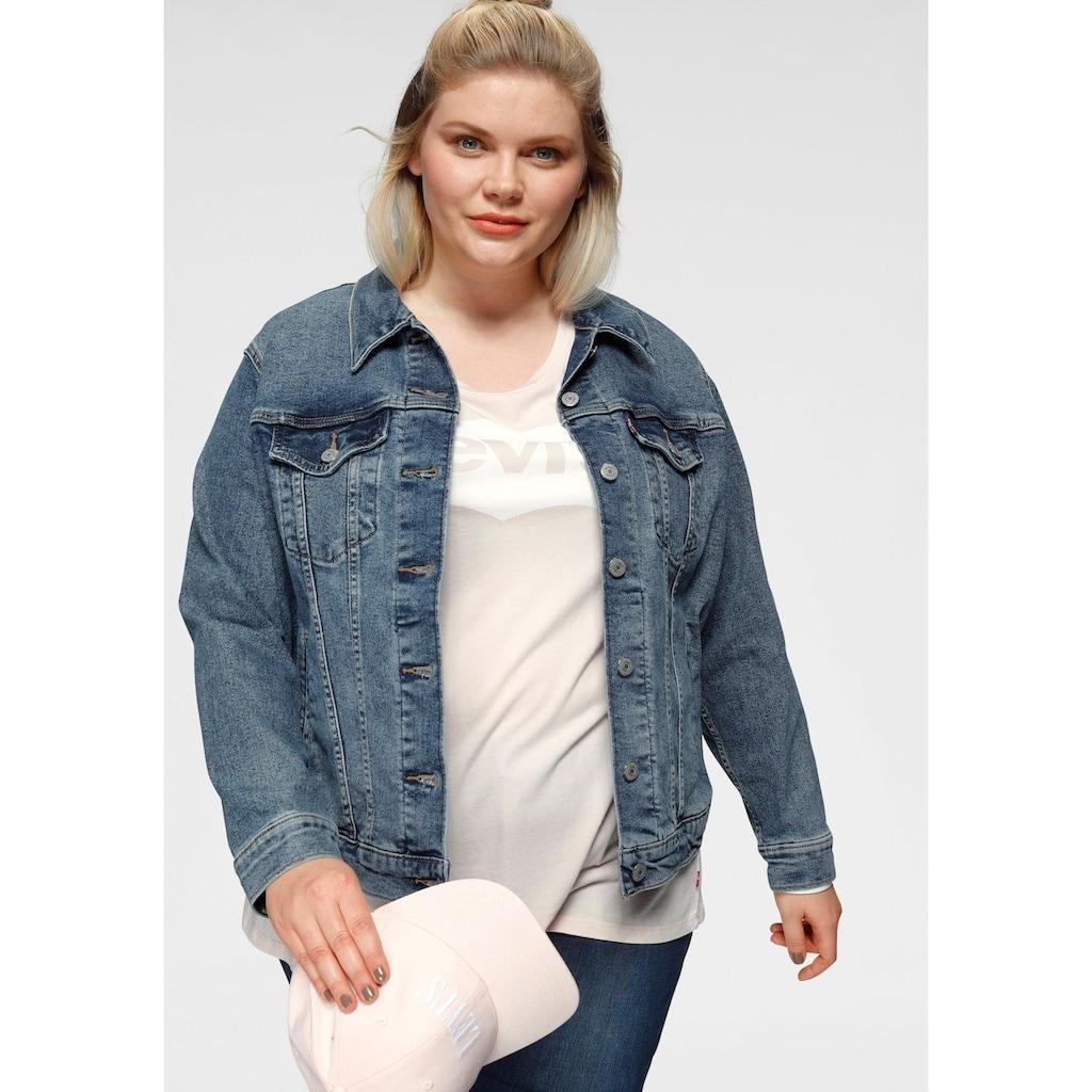 Levi's® Plus Jeansjacke »Boyfriend Trucker«, mit seitlichem Riegel
