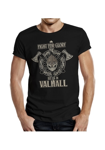 LOBO NEGRO® T - Shirt mit coolem Front - Print kaufen