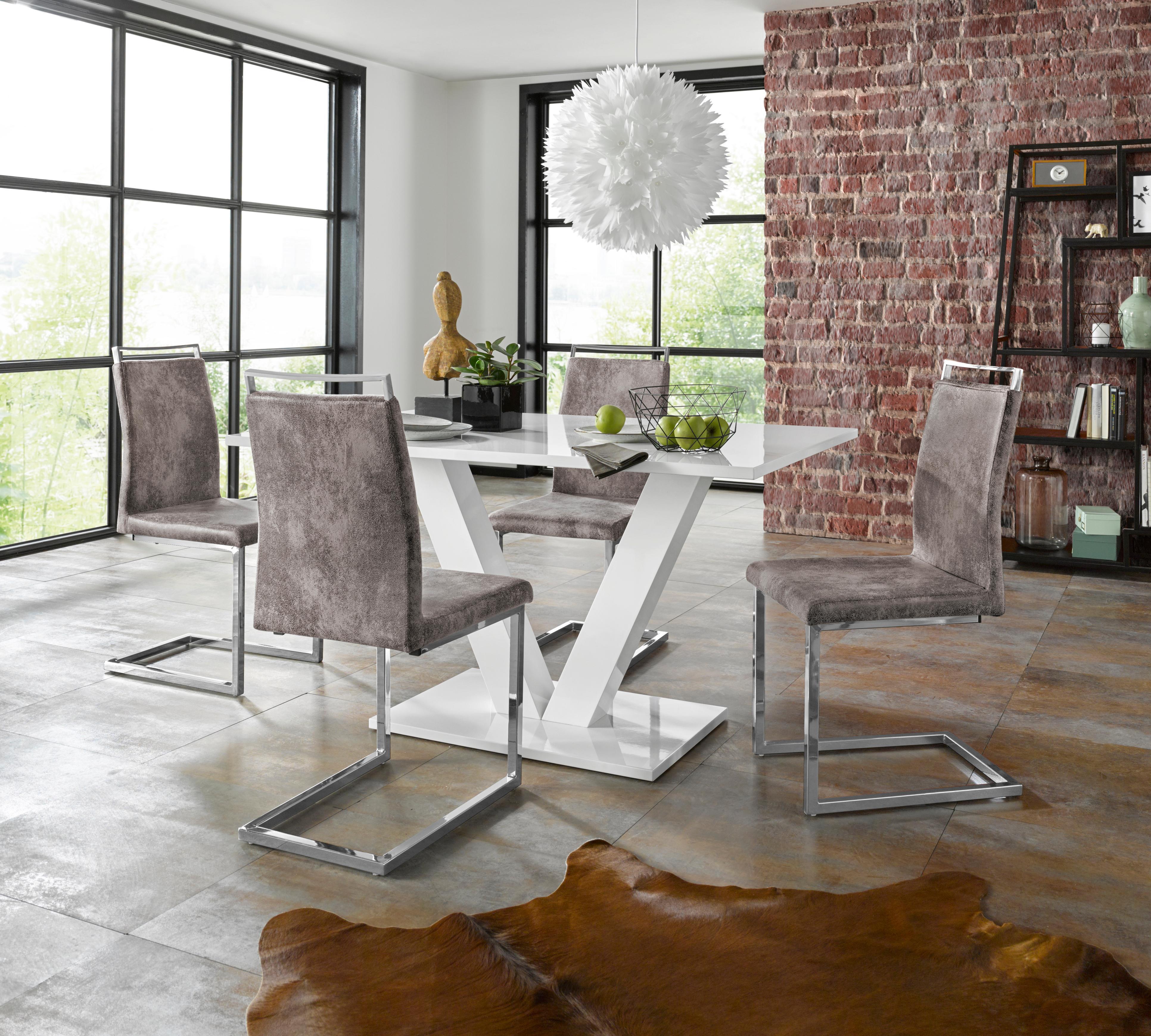 Essgruppe Andy/Jella (Set, 5-tlg) weiß Essgruppen Tische Sitzmöbel-Sets