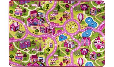Andiamo Kinderteppich »Sweet Village«, rechteckig, 7 mm Höhe, Straßen-Spielteppich, Straßenbreite: 6,0 cm kaufen