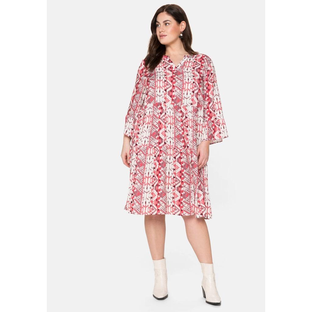 Sheego Sommerkleid, im Mustermix, jedes Teil ein Unikat