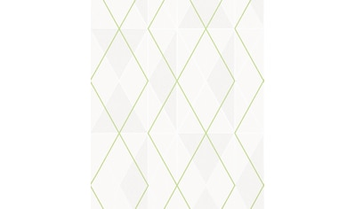 Marburg Vliestapete »weiß-grün«, grafisch, restlos abziehbar kaufen