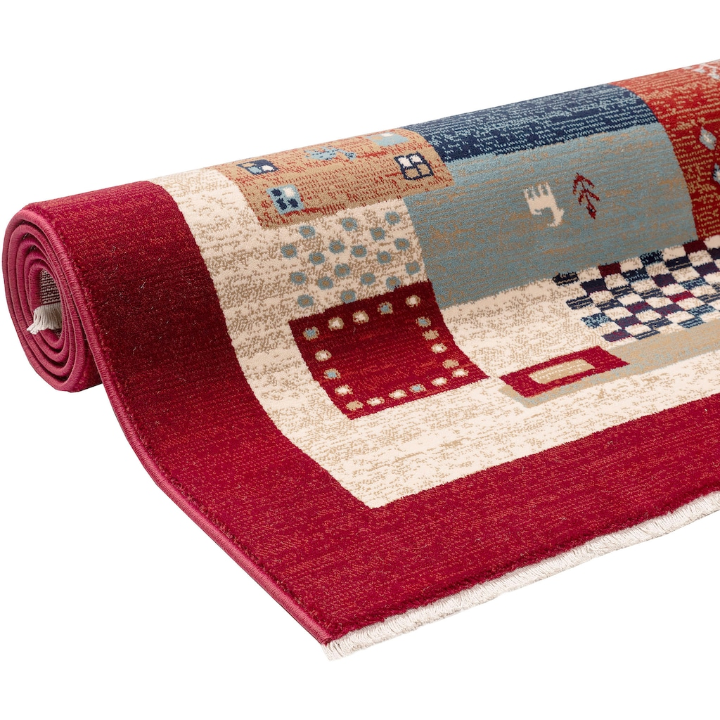 Home affaire Teppich »Kayra«, rechteckig, 10 mm Höhe, Orient-Optik, Wohnzimmer