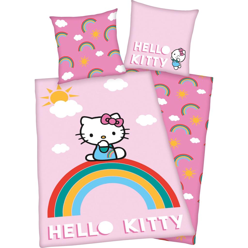 Hello Kitty Kinderbettwäsche »Hello Kitty«, mit tollem Hello Kitty Motiv