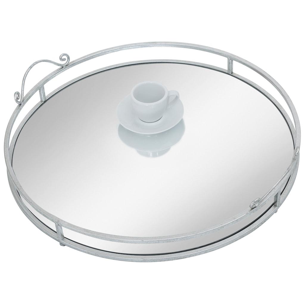 AM Design Tablett »Mirror«, mit Spiegelboden, Ø ca. 50 cm