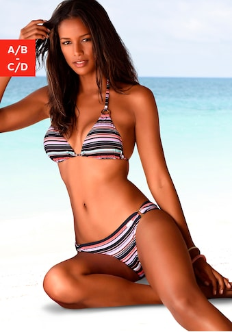 LASCANA Triangel-Bikini-Top »Voss«, mit trendigem Print kaufen