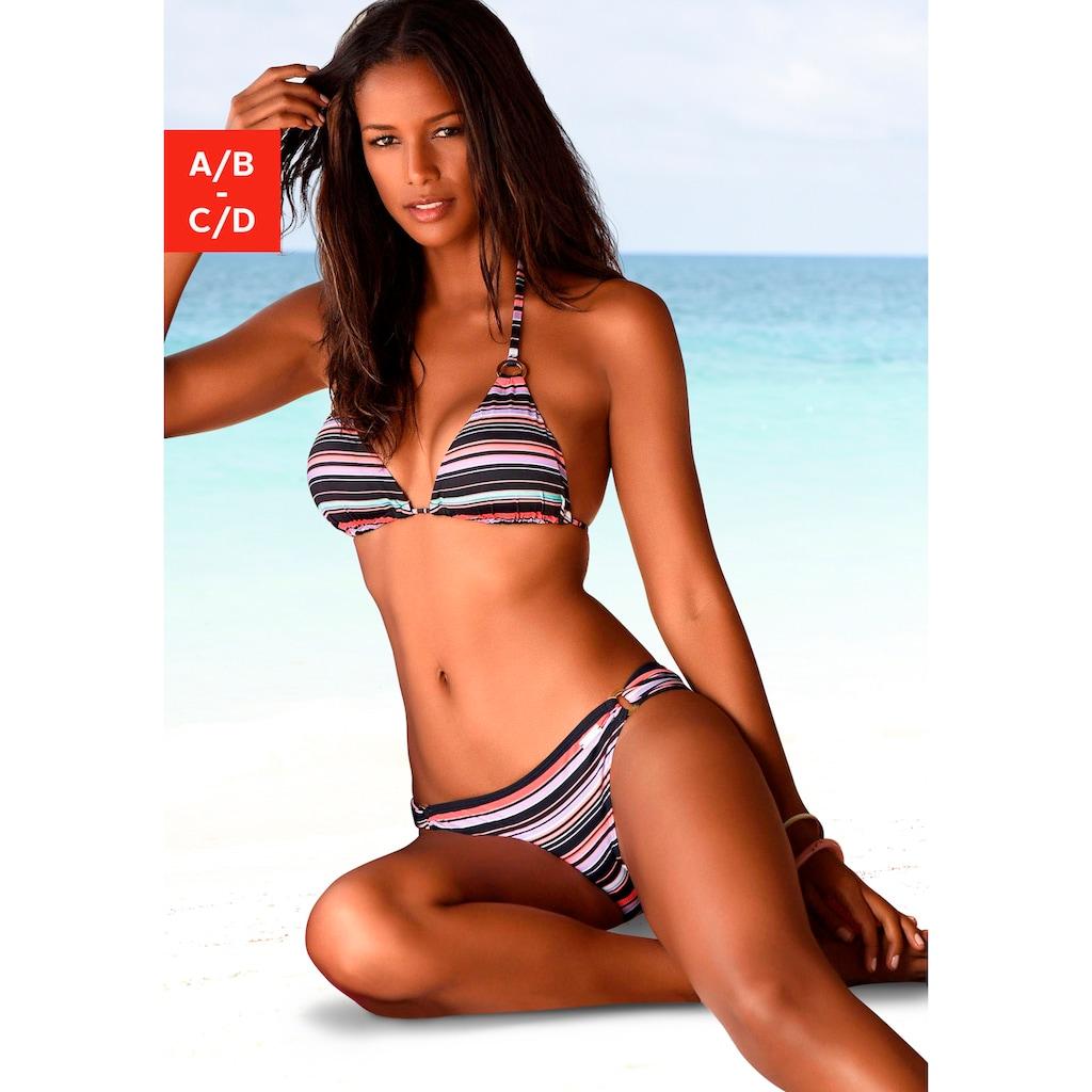 LASCANA Triangel-Bikini-Top »Voss«, mit trendigem Print