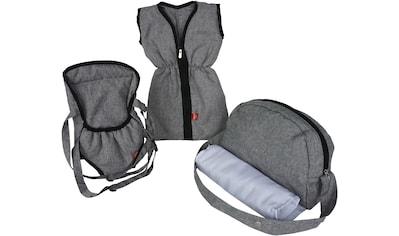 Knorrtoys® Puppen Schlafsack »Puppenzubehörset - stone«, mit Puppenbauchtrage und Wickeltasche kaufen