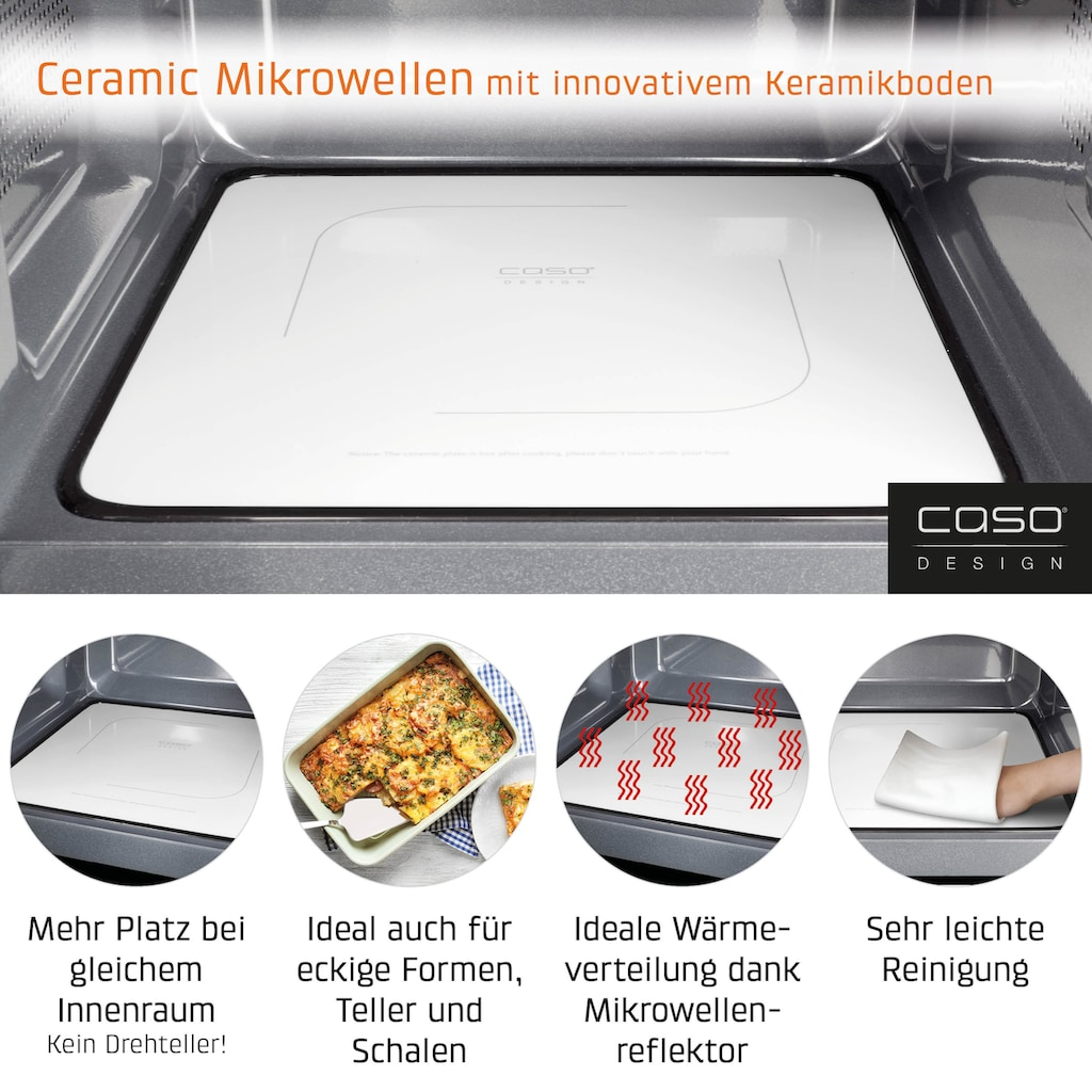 Caso Mikrowelle »3329 MG 25 Ecostyle Ceramic«, Mikrowelle-Grill, 1200 W