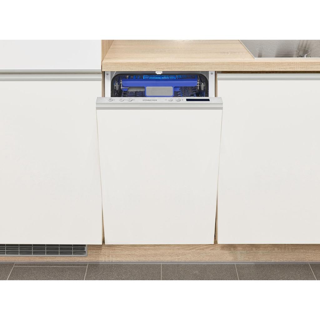 vonReiter vollintegrierbarer Geschirrspüler »VREGSP 45210E«, VREGSP 45210E, 8 l, 10 Maßgedecke