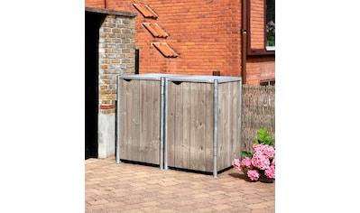HIDE Mülltonnenbox für 2 x 240 l, grau/natur kaufen