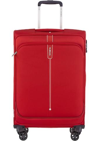 Samsonite Weichgepäck-Trolley »Popsoda, 66 cm, red«, 4 Rollen kaufen