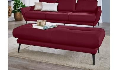 W.SCHILLIG Hocker »softy«, mit dekorativer Heftung im Sitz, Füße schwarz pulverbeschichtet kaufen