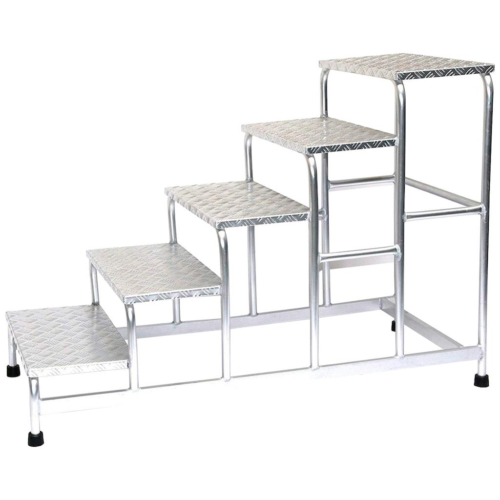 SZ METALL Trittleiter, Aluminium, 5-stufig