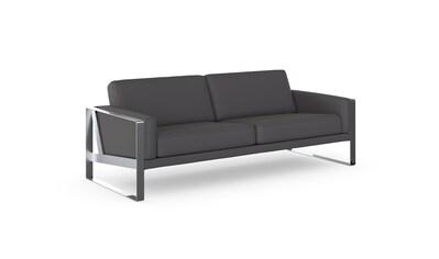 machalke® 3-Sitzer »frame«, Ledersofa mit Kufe silberfarben kaufen