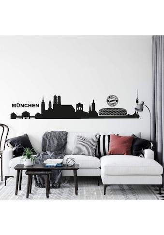 Wall-Art Wandtattoo »Fußball München Skyline mit Logo« kaufen