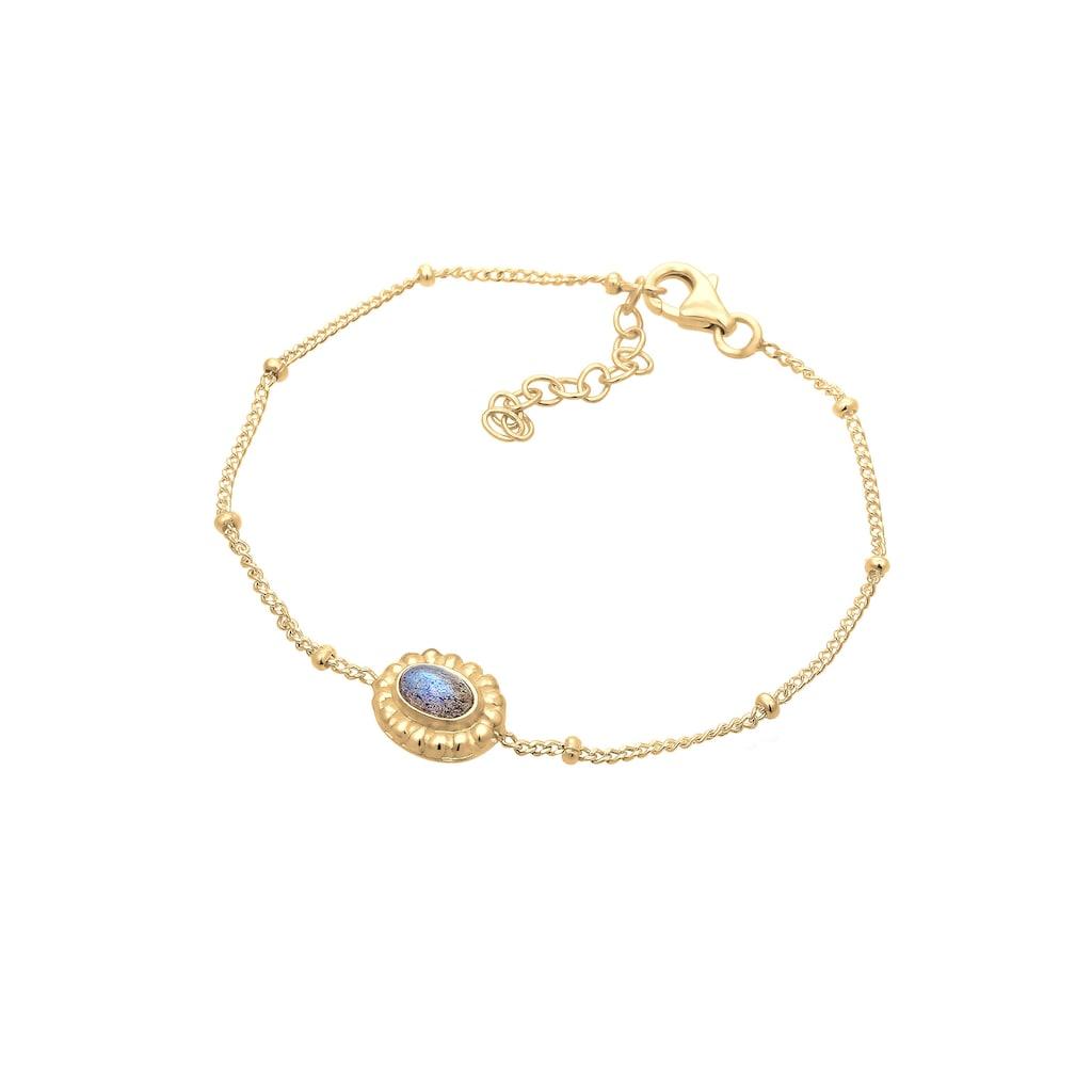 Elli Armband »Labradorit Edelstein Vintage Geo 925er Silber«