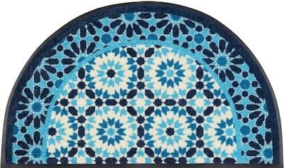 wash+dry by Kleen-Tex Fußmatte »Round Oriental«, halbrund, 7 mm Höhe,... kaufen