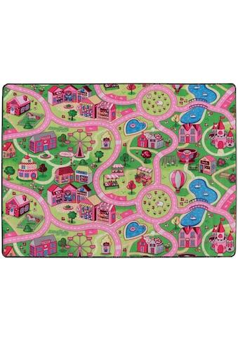 Primaflor-Ideen in Textil Kinderteppich »SWEET CITY«, rechteckig, 5 mm Höhe,... kaufen