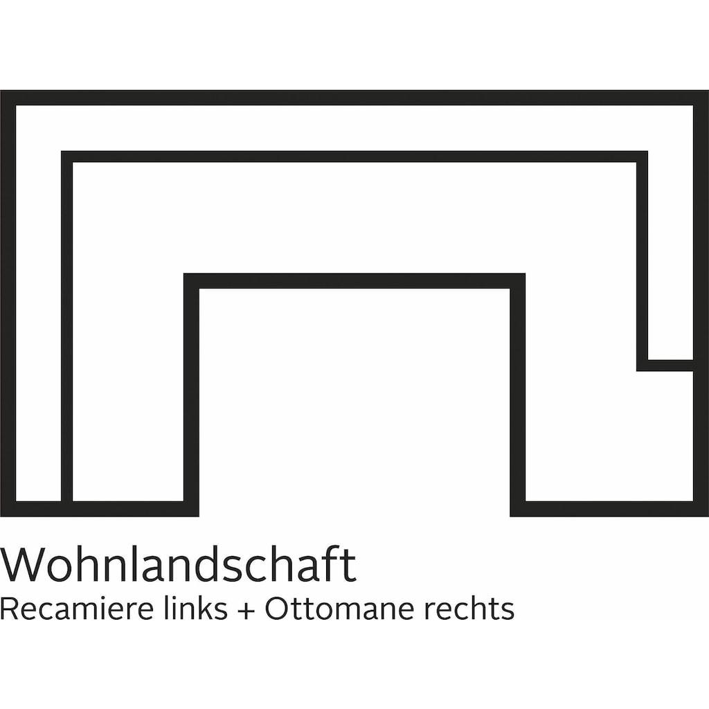DOMO collection Wohnlandschaft, XXL, wahlweise mit Bettfunktion und Armlehnenverstellung