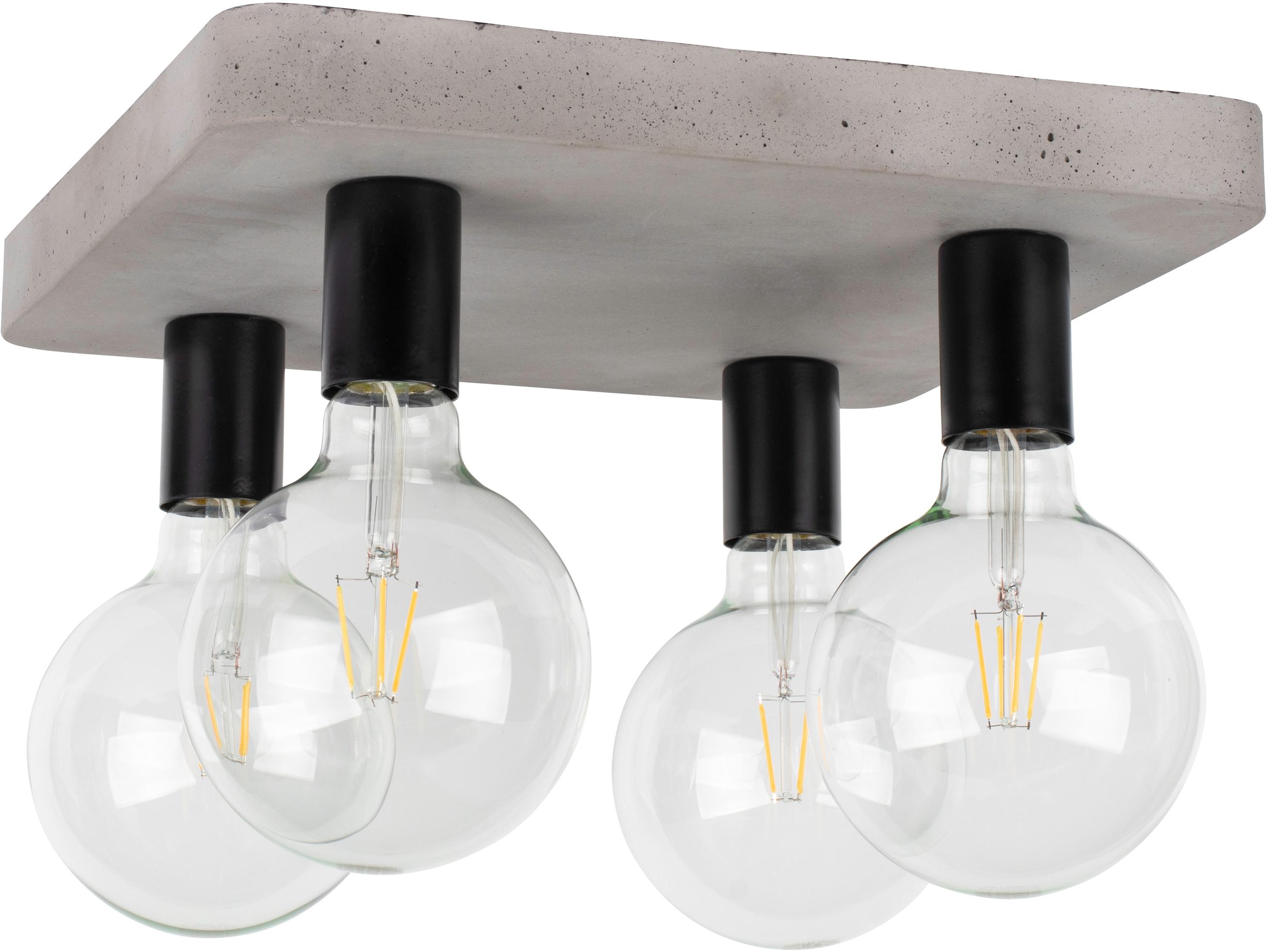 SPOT Light Deckenleuchte FORTAN, E27, 1 St., Echtes Beton - handgefertigt, Naturprodukt - Nachhaltig, Ideal für Vintage-Leuchtmittel, Made in Europe