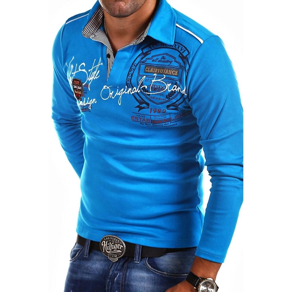behype Poloshirt »Ambition«, mit Hemdkragen und Prints