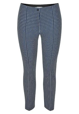 Rabe Stretch-Hose, mit geometrischem Muster und Ziernähten kaufen