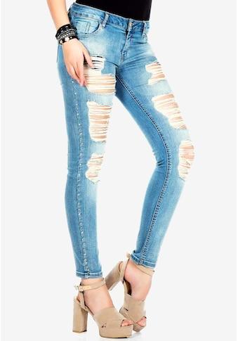 Cipo & Baxx Slim-fit-Jeans, mit cooler Riss-Struktur kaufen