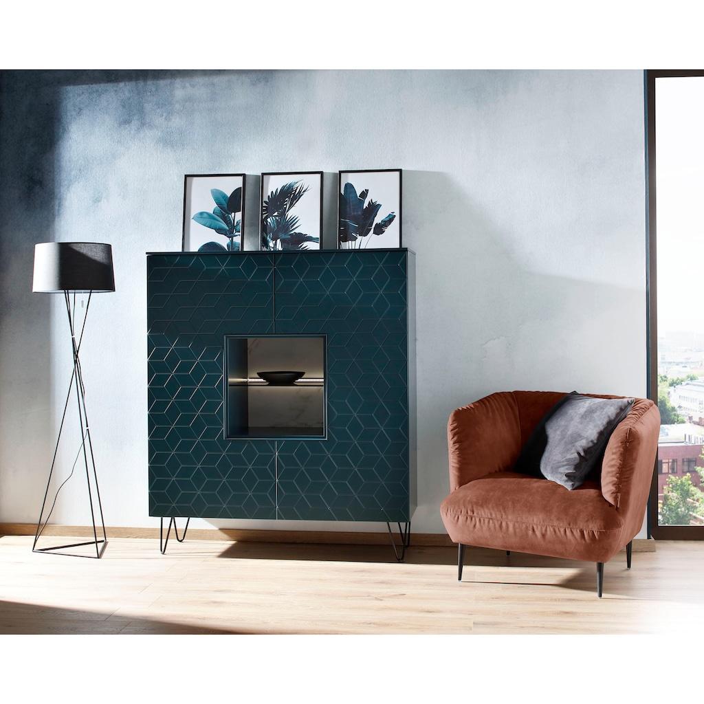 W.SCHILLIG Sessel »Villeroy & Boch ELLA«, Füße Schwarz pulverbeschichtet