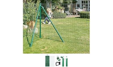 GAH ALBERTS Set: Schweißgitter »Fix - Clip Pro®«, 81 cm hoch, 10 m, grün beschichtet, zum Einbetonieren kaufen