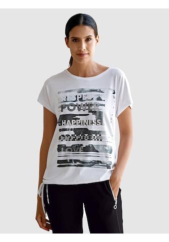 Laura Kent Kurzarmshirt, mit platziertem Druck im Vorderteil kaufen
