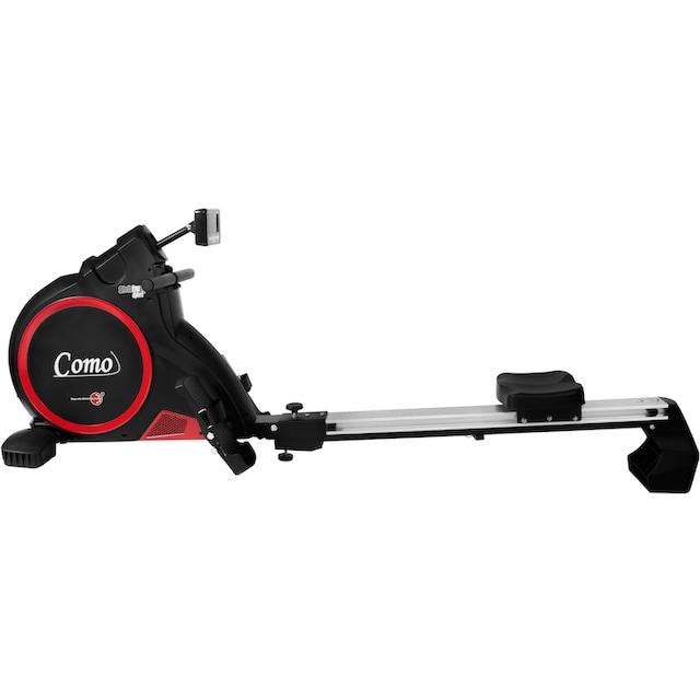 Christopeit Sport® Ruderzugmaschine »Como black edition«, Ruderschiene platzsparend hochklappbar