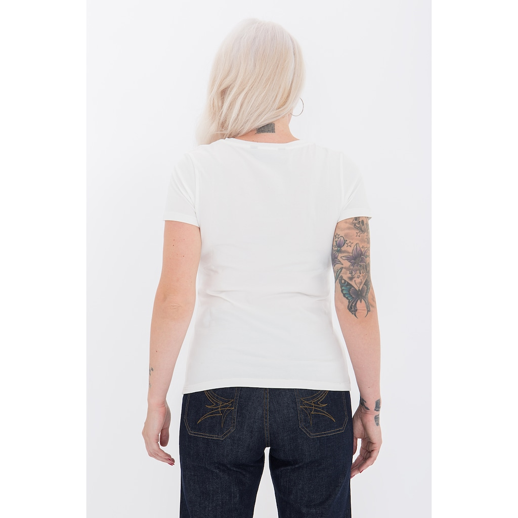 QueenKerosin Print-Shirt »Flame Bar«, mit coolem Retro-Print
