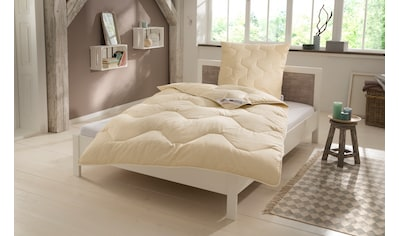 Naturfaserbettdecke + Kopfkissen, »Baumwolle 60 °C«, my home, (Spar - Set) kaufen