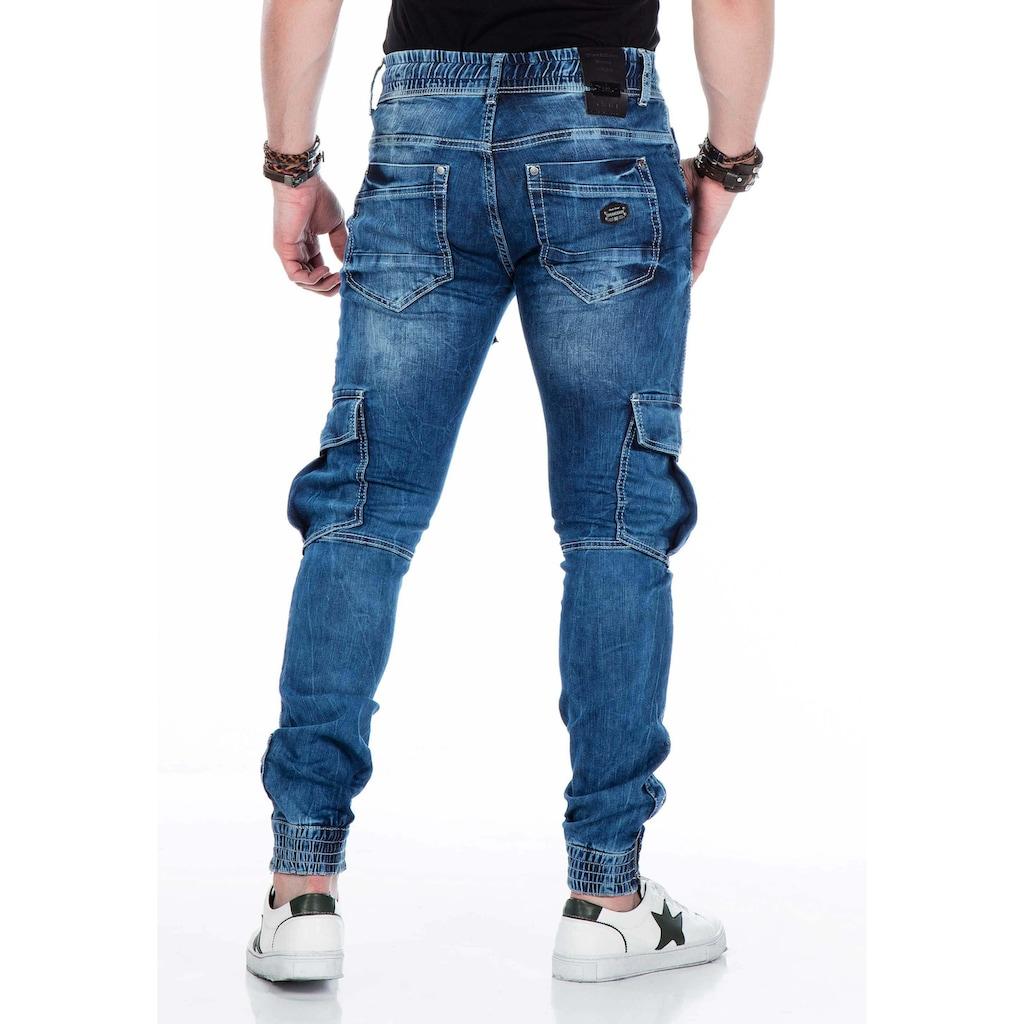 Cipo & Baxx Slim-fit-Jeans, mit elastischen Bündchen am Saum