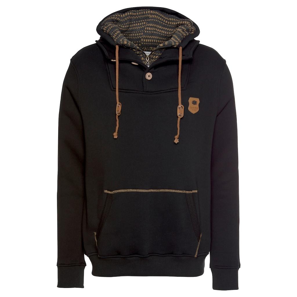 Cipo & Baxx Sweatshirt, mit Schalkragen