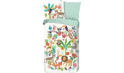 good morning Kinderbettwäsche »Happy«, mit Tieren kaufen