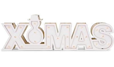 LED Dekolicht »Xmas mit Schneemann«, Neutralweiß, Batteriebetrieb kaufen