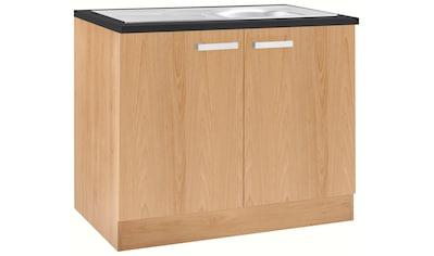 OPTIFIT Spülenschrank »Odense«, 100 cm breit, mit 2 Türen, inkl. Einbauspüle aus... kaufen